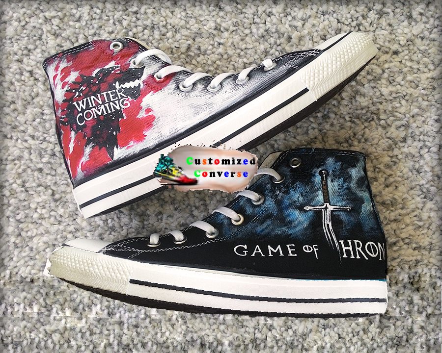 f7ddc1432fa7 Game of Thrones Shoes - converse shoes - custom converse - customized  converse