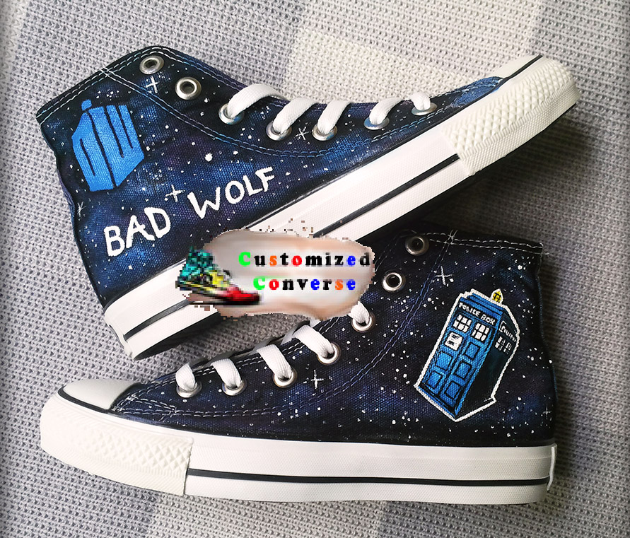 80343eb6d3e5f Doctor Who Bad Wolf Shoes - converse shoes - custom converse - customized  converse
