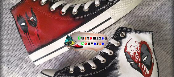 Deadpool Converse Shoes - converse shoes - custom converse - customized converse