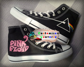 Pink Floyd Shoes 2 - converse shoes - custom converse - customized converse