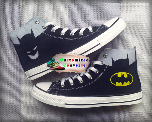 Batman Converse Shoes - converse shoes - custom converse - customized converse
