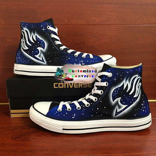 Fairy Tail Shoes - converse shoes - custom converse - customized converse