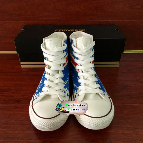 England Flag Shoes - converse shoes - custom converse - customized converse