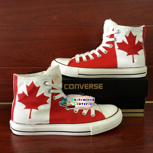 Canada Flag Shoes - converse shoes - custom converse - customized converse