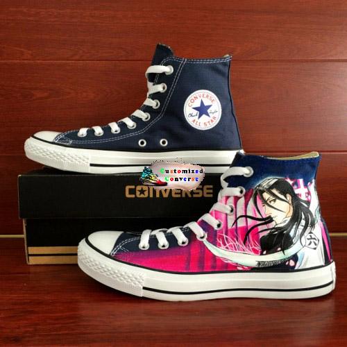 Bleach Byakuya Kuchiki Shoes - converse shoes - custom converse - customized converse