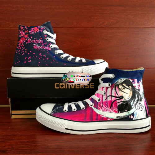 Bleach Byakuya Kuchiki Shoes - converse shoes - custom converse - customized converse