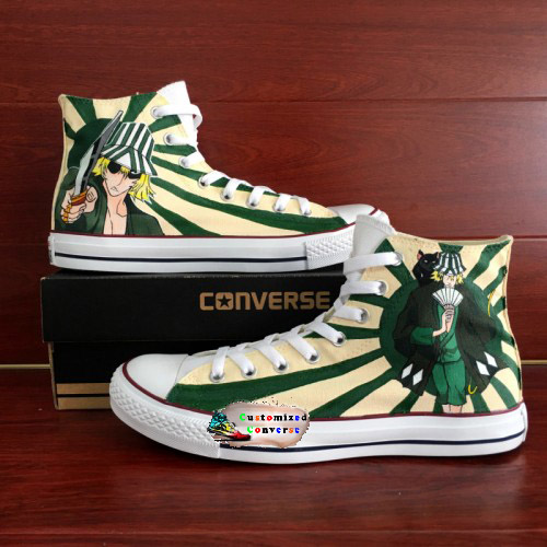 Bleach Urahara Shoes - converse shoes - custom converse - customized converse