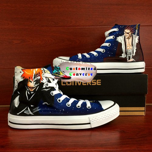 Bleach Shoes - converse shoes - custom converse - customized converse