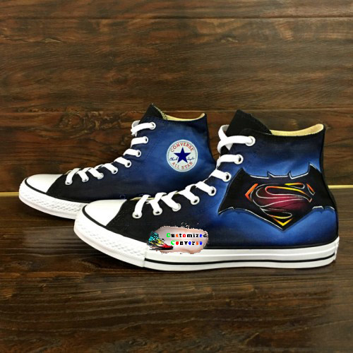 ef06d469cb0 Batman Superman Shoes.   85.00. Batman vs. Superman Shoes – Handpainted  Custom Converse