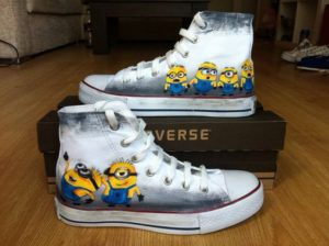 da8bb41b6f1 10 Unique Minions Custom Converse Shoes Designs - Custom Converse