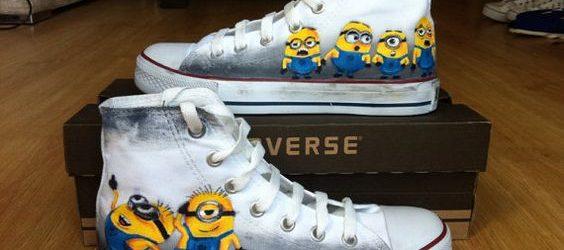 Minion Converse Shoes - converse shoes - custom converse - customized converse