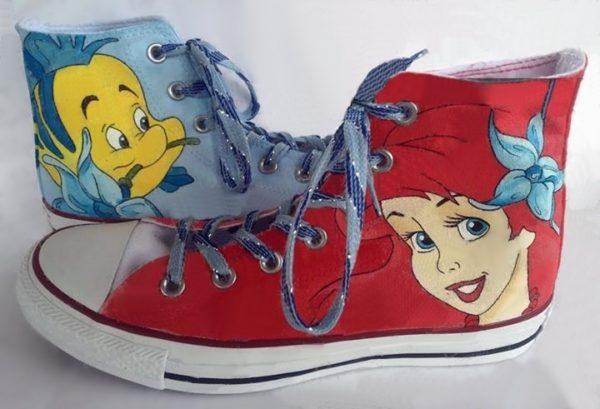 Little Mermaid Ariel Shoes - converse shoes - custom converse - customized converse