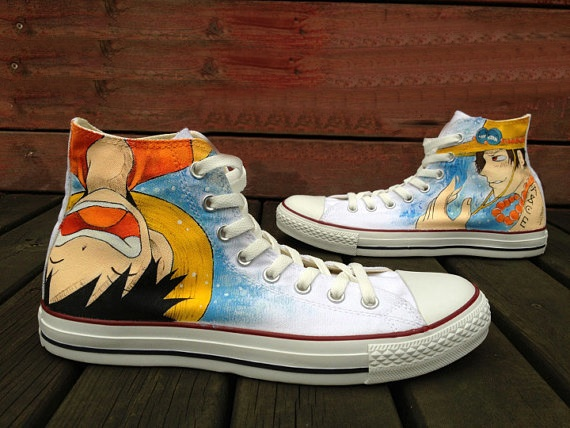 One Piece Shoes - converse shoes - custom converse - customized converse