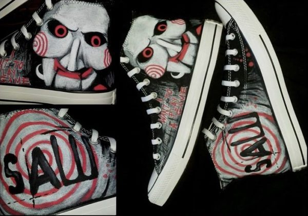 Saw Shoes - converse shoes - custom converse - customized converse