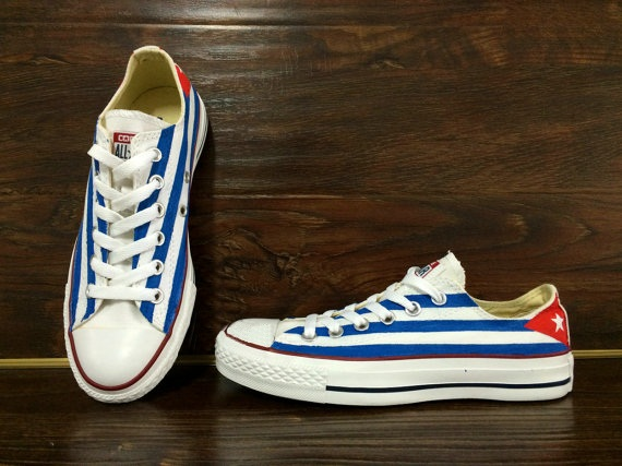 Cuba Flag Shoes - converse shoes - custom converse - customized converse