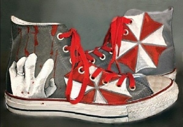 Resident Evil Shoes - converse shoes - custom converse - customized converse