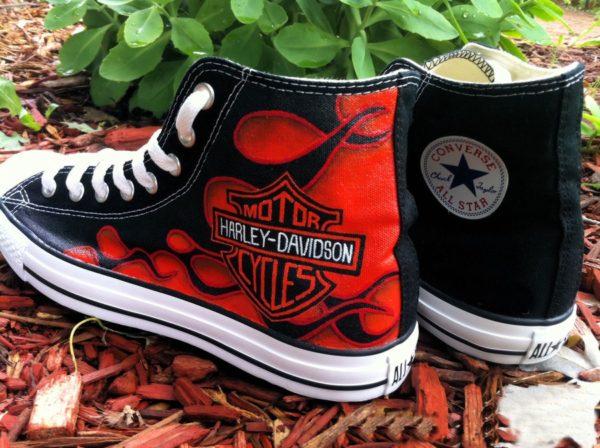 Harley Davidson Shoes - converse shoes - custom converse - customized converse