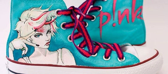 Pink Shoes - converse shoes - custom converse - customized converse