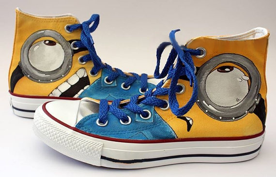Minion Eyes Shoes 2 - converse shoes - custom converse - customized converse