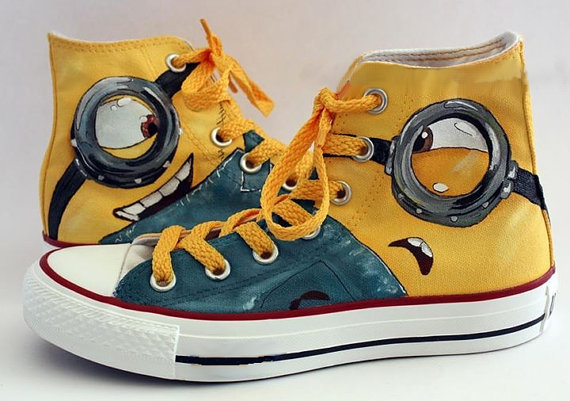 36639bab3f8 Minion Eyes Shoes - converse shoes - custom converse - customized converse