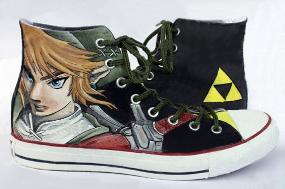 Zelda Link Shoes 4 - converse shoes - custom converse - customized converse