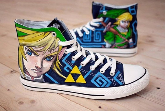 Zelda Link Shoes 2 - converse shoes - custom converse - customized converse
