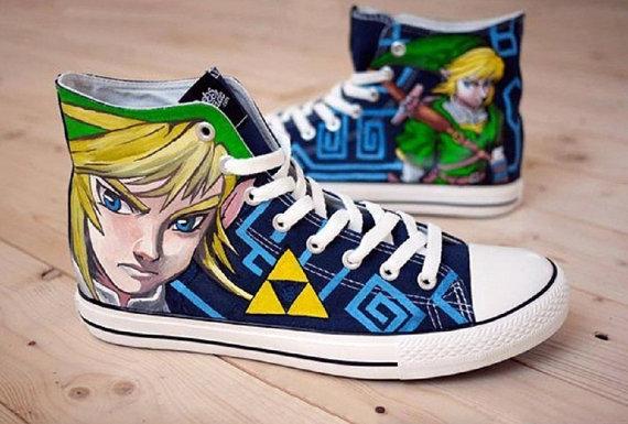 Zelda Link Shoes 2 - converse shoes - custom converse - customized converse