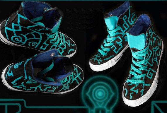 Zelda Twilight Princess Shoes - converse shoes - custom converse - customized converse
