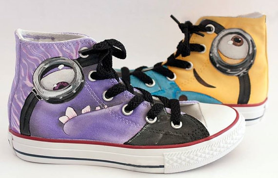 Minion Shoes 6 - converse shoes - custom converse - customized converse