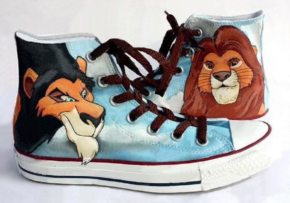 Lion King Shoes - converse shoes - custom converse - customized converse