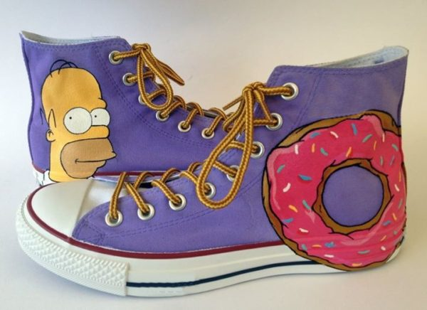 Simpsons Converse Shoes - converse shoes - custom converse - customized converse