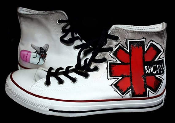 Red Hot Chili Peppers Shoes - converse shoes - custom converse - customized converse