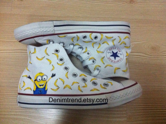 9a6db22fed7a Minions Banana Shoes - Custom Converse Shoes by CustomizedConverse.com