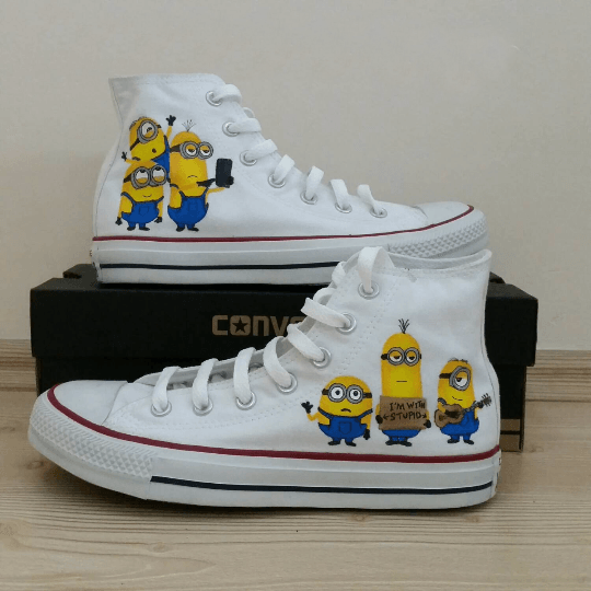 Minion Converse Shoes - converse shoes - custom converse - customized converse
