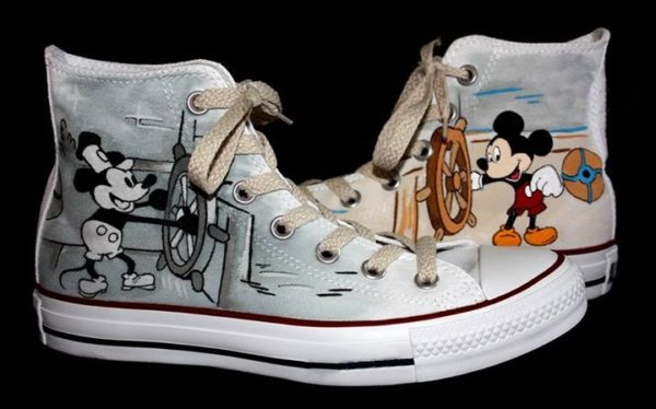 Mickey Mouse Shoes - converse shoes - custom converse - customized converse