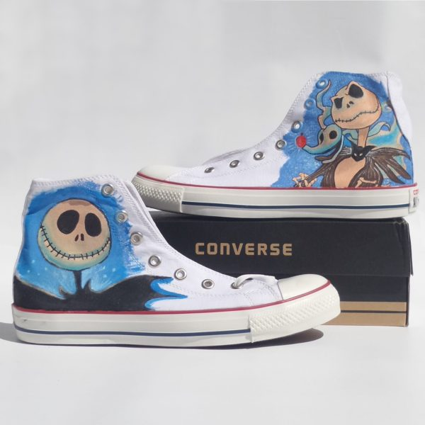 Jack Skellington Shoes - converse shoes - custom converse - customized converse
