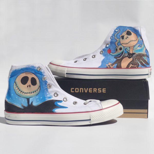 Jack Skellington Shoes - converse shoes - custom converse - customized converse