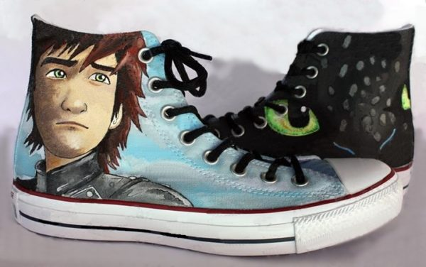 How To Train Your Dragon Shoes - converse shoes - custom converse - customized converse