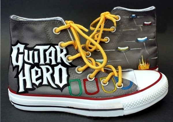 Guitar Hero Shoes - converse shoes - custom converse - customized converse