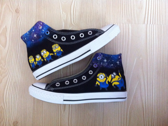 Galaxy Minion Shoes - converse shoes - custom converse - customized converse
