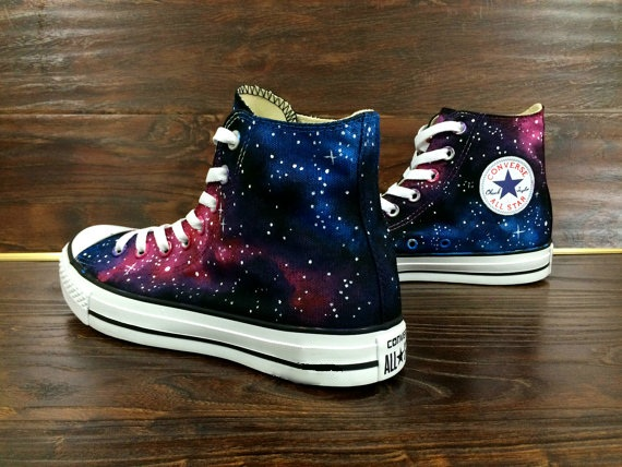 Galaxy Converse Shoes - converse shoes - custom converse - customized converse
