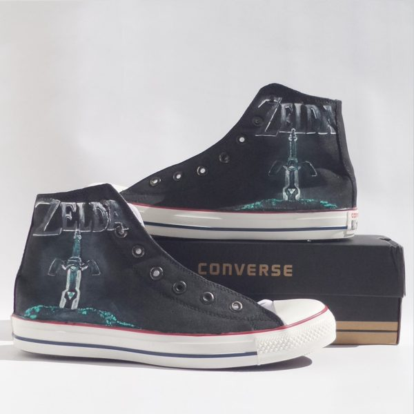 Zelda Converse Shoes - converse shoes - custom converse - customized converse