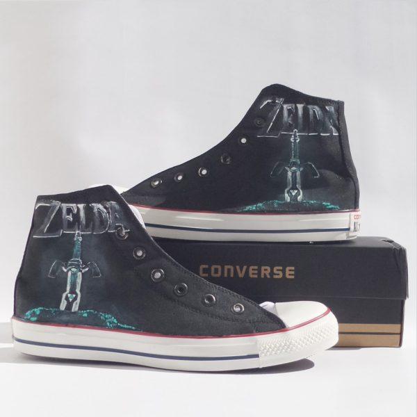 Zelda Converse Shoes - converse shoes - custom converse - customized converse