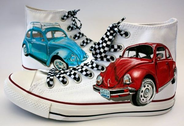 Volkswagen Converse Shoes - converse shoes - custom converse - customized converse