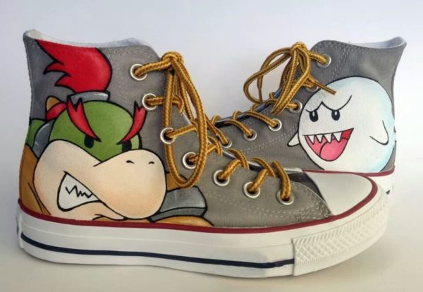 Super Mario Shoes - converse shoes - custom converse - customized converse