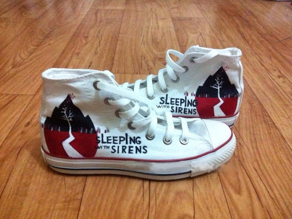 Sleeping With Sirens Shoes - converse shoes - custom converse - customized converse