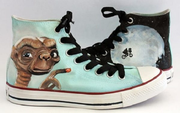 E.T. Shoes - converse shoes - custom converse - customized converse