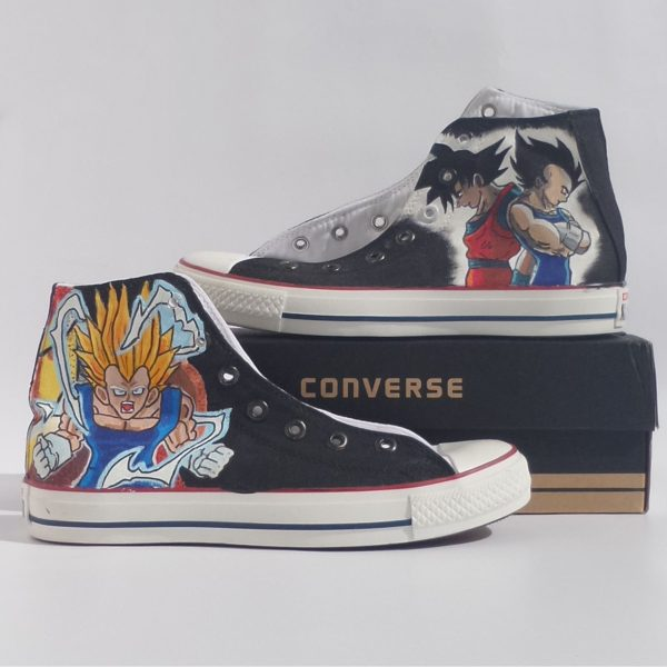 Dragon Ball Z Shoes - converse shoes - custom converse - customized converse