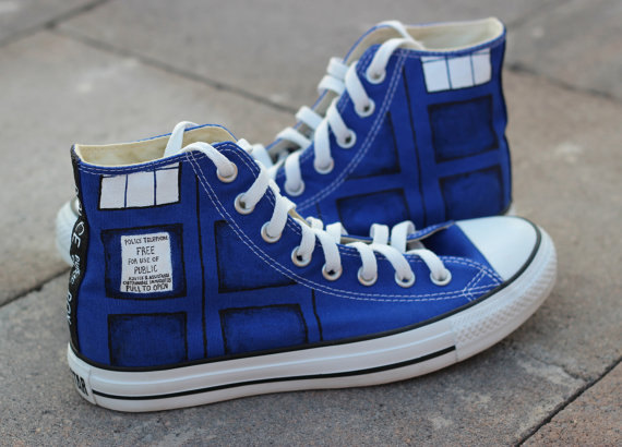 Doctor Who Converse Shoes - converse shoes - custom converse - customized converse