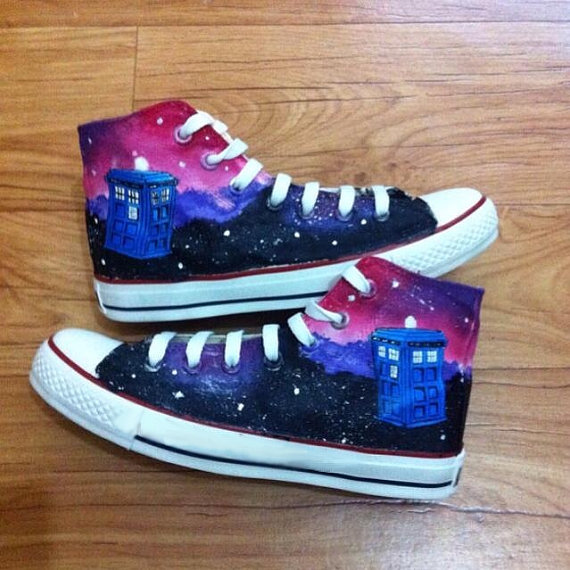 a98792aee80b Doctor Who Converse Shoes - converse shoes - custom converse - customized  converse